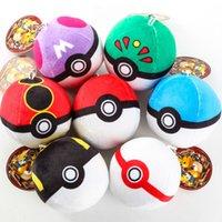 Wholesale 7pcs set Poke mon Go Pocket Monster Pokeball Figures Pikachu Super Master Poke Ball Stuffed Plush Doll Pendant Toys