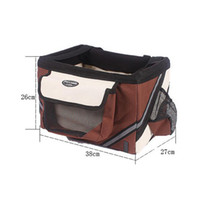 Wholesale 2016 New Bicycle Handlebar Small Pet Carrier Bike Basket with Dog Treat Pockets Freeshipping