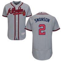 atlanta grey - New Custom Atlanta Braves Mens Jerseys Dansby Swanson Grey Flexbase Collection Baseball Jersey Stitched Name Number and Logos