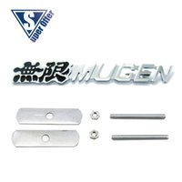 accord mugen grill - 3D Metal Sport power Front Hood Grill Badge Emblem stickers screws for MUGEN BLACK NWEW STYLE UNIVERSAL CAR