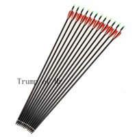 Wholesale inch Spine Carbon Arrow for Compound Recurve Bow Hunting and Archery Shooting Target of pieces