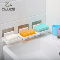 Wholesale New Creative ABS plastic drain and soap holder no trace sucker bathroom accessories soap holder can repeat paste