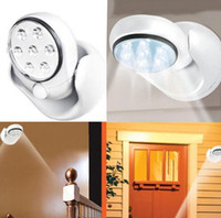 Wholesale 7 LEDs Motion Activated Cordless Sensor Light Indoor Outdoor Garden Wall Patio Rotation Lamp Night Home Porch Pool Corridor