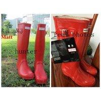 Wholesale 2016 New Fashion hunter boots Waterproof boots hunter wellies over knee boots rain boots hunter Muti color rain boots women Hot Sale