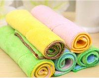 Wholesale Super fine fiber double side water absorbent cloth can not be thicker hair do not dip oil washing towel kitchen dishes