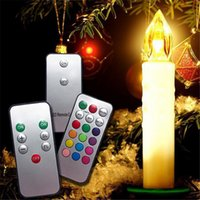 Cheap Warm White Candle Lights with Clip and Remote Controller 0.1W 1.5V CE Switch PC ABS Candle Lights