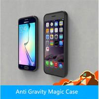 Wholesale Fashion Anti Gravity Selfie Case Magical Anti Gravity Nano Suction Cases For iphone s se s plus plus samsung note s7 s7 edge