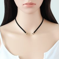 Cheap Foreign Trade Heat Sell Korea Down Clavicle Chain Concise Diamond Pendeloque Cut Necklace Copper Electroplate choker necklaces for women