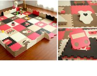 Wholesale Lovely EVA cm set Puzzle Carpet Baby Play Mat with Fenced Floor Puzzle Mat Children Foam Carpet Mosaic floor