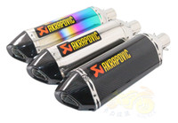 atv mufflers - Big Size Motorcycle Modified Scooter ATV Exhaust Real Carbon Fiber Racing Bike Muffler CB600 FZ400 Akrapovic Exhaust Muffler Pipe Nice Sound