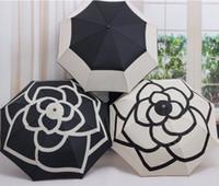 Wholesale 2016 New Brand Fully Automatic Fold Umbrella Rain Women High Quality Daisy Flower Umbrellas Parasol Luxury Gift For Women B12