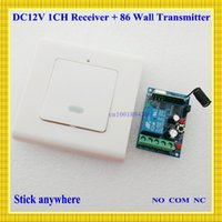 Wholesale V RKE Remote Keyless Entery System Power ON OFF Remote Control Switch Press ON Release OFF Mini Receiver Wall Transmitter