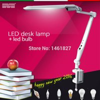 Wholesale 2016NEW LED BULB LED Memory function LED Desk Lamps office table lamp student reading lamps fashion lights Free rotation Angle