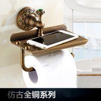 artistic paper - And Retail Vintage Euro Antique Brass Bathroom Toilet Paper Holder Artistic Roll Tissue Rack