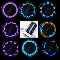bicycle spoke accessories - Bike Accessories Led Bicycle Wheel Spoke Light Tire LED Patterns Lamp Cycle Hot Wheels Flash Light Lighting