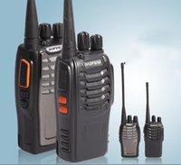 Wholesale 4200Mah Portable Walkie Talkie Wireless Watt Water proof and Unbreak Frequency Range UHF MHz VHF MHz FM Radio MHZ