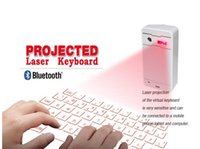 Wholesale Portable Virtual Laser bleutooth keyboard for Ipad Iphone Samsung Tablet PC Bluetooth Projection Projected Keyboard Wireless Speaker