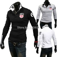 Wholesale Mens Stylish Casual Slim Fit Short Sleeve Polo Shirt shirts Tee Shirt