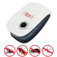 Wholesale Ultrasonic Electronic Cockroach Repeller Mouse Pest Control Reject US EU Plug E00271 OST