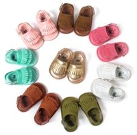 Cheap Unisex baby tassels mocassins sadals Best Summer Leather infant leather first walker shoes
