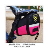 bicycle leather saddle bag - MTB Bicycle Bike seat Rear Back Bag Rainproof Leather Bike Saddle Bag Outdoor Cycling Mountain Bike Back Seat Tail Pouch Package