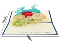 attraction building - world building three dimensional card Business birthday card paper cut greeting CARDS and custom China s Tibet attractions The pot