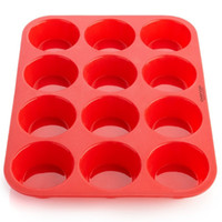 Wholesale 12 Cups Silicone Mini Muffin Cupcake Maker Paste Fondant Mold Sugar craft Pastry Baking Tools Mould Tray Pan WA0962