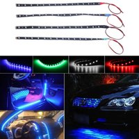 Wholesale Waterproof LED cm Car Styling super white blue red waterproof flexible Car Light Daytime Running Lights DRL Soft Strips