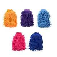 Wholesale 2016 New Super Mitt Microfiber Household Car Wash Washing Cleaning Gloves Anti Scratch Car Washer WA0728