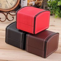 Wholesale 2016 Luxury Watch Box Display Case Gift Boxes Genuine Leather Watch Box with Pillow Watch Packaging For Bangle Ring Earrings