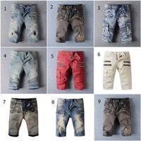 Wholesale BALMAIN Biker Jeans Running Shorts Mens Designer Cargo Shorts Famous Brand Balmain Jeans Men Casual Jeans Surf Denim