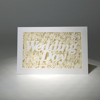 beautiful invitation cards - Hot Sale White Laser Cut Wedding Invitations Cards Folded Party Cards Personlized Print with Beautiful White Hollow Wedding Day Flora