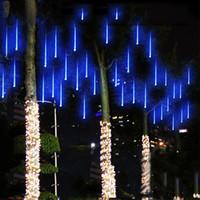 Wholesale 50CM LED Meteor Shower Rain Tube LED Christmas Light Wedding Party Garden Xmas String Light Outdoor Holiday Lighting V
