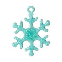 "Cheap Zinc metal alloy Charm Pendants Christmas Snowflake Mint Green Enamel 27.0mm(1 1 8"") x 20.0mm( 6 8""), 1 Pc 2015 new"