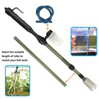 Wholesale Electric Water Changer Transfer Sand Washer with Dust Bag Extra Water Tube for Fish Tank Aquarium