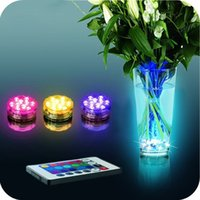 Wholesale Multi Color Submersible LED Light Party Lamp Underwater W Remote Control For New