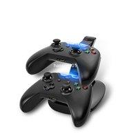 Xbox dual España-USB LED dual del cargador USB del muelle del cargador estación de acoplamiento cargador de pie para XBOX un controlador de juegos con caja al por menor