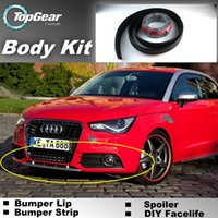 Wholesale Bumper Lip Lips For Audi A1 Front Skirt Deflector Spoiler For Car Tuning The Stig Recommend Body Kit Strip