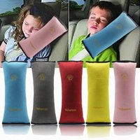 Wholesale Kids Headrest Neck Support Pillow Traveling Nap Pillow Shoulder Pad For Car Seat Belts Gray Blue Red Pink Yellow