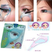Wholesale New in Mascara Eyelashes Eye Lash Comb Applicator Guide Card Women Lady Girls Make Up Tools DHL Free
