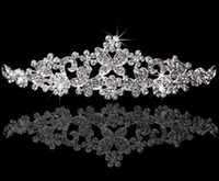 Wholesale Best Selling Bridal Fascinators tiaras With Rhinestone Head Pieces Crystal Bridal Headbands Tiaras Crowns Wedding Hair Accessories HT117