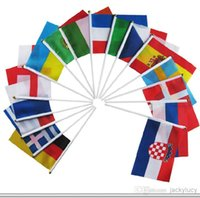 Wholesale Personalized Design Brazil World Cup Soccer Fans Hand Signal Flags CM Polyester National Flags