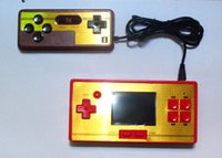 Wholesale fc pocket inch video game color lcd screen games player station bit handheld console with game double handle
