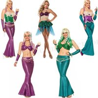 adult mermaid - Adult Mermaid Cosplay Costume Sexy Halloween Party Cosplay Tops Pants Nightclub Club Mermaid Costume Mermaid Cosplay Dress Costume D135