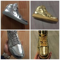 authentic designer shoes - 2016 New JI1 Men Designer Shoes Golden Silvery Fashion Brand Cheap Authentic Casual Shoes for Men Size Eur