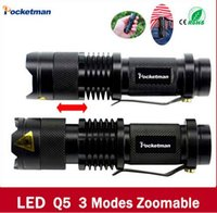 Wholesale 2016 new high quality Mini Black Brand LM Waterproof LED Flashlight Modes Zoomable LED Torch penlight
