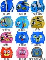 Wholesale 100 Silicone Swim Cap Children Cartoon Swimming Cap Multi Pattern Bathing Cap