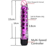adult figurines - 2015 Inches Powerful Multi Speed Dildo Vibrator G Spot Massager Adult Sex Toys For Women QR toy figurine