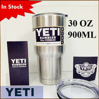 beer stainless steel - In Stock Rambler Tumbler oz YETI Cups Cars Beer Mug Large Capacity Mug Tumblerful ml Yeti cups