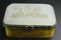 ancient chinese jade - Chinese Nice Collectibles Jade B0ne Hand Carved quot Chicken Bird Flowers quot Ancient Jewel Box